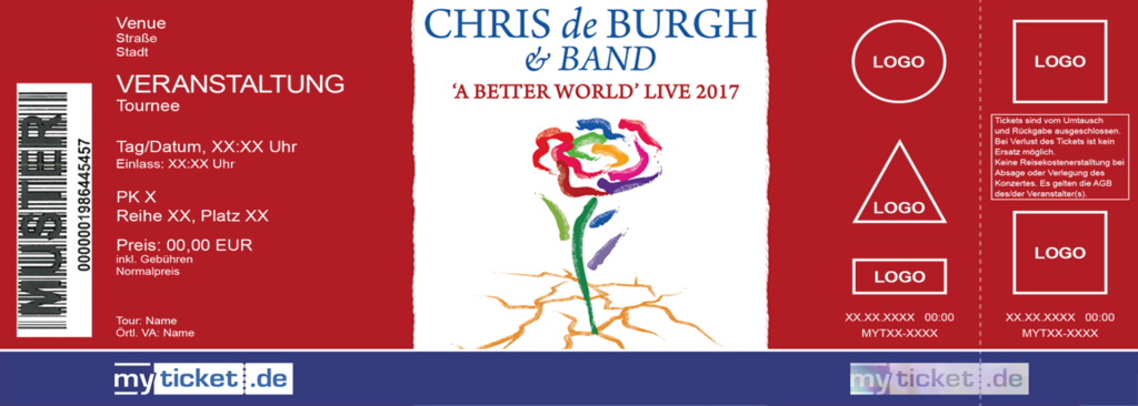 Chris de Burgh & Band Colorticket