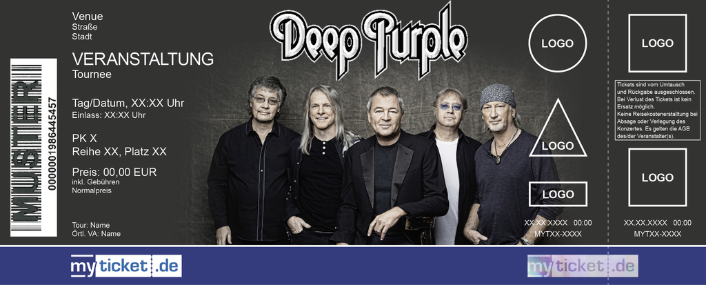 Deep Purple Colorticket