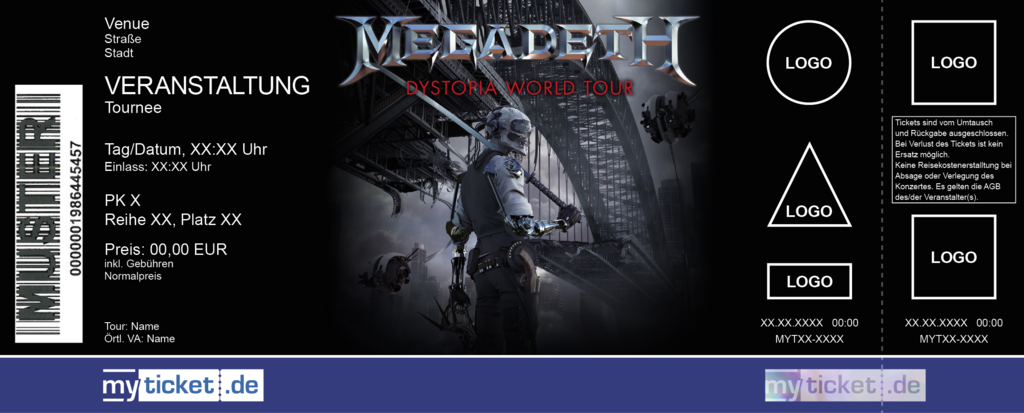 Megadeth Colorticket