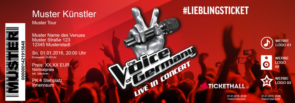 The Voice of Germany Colorticket