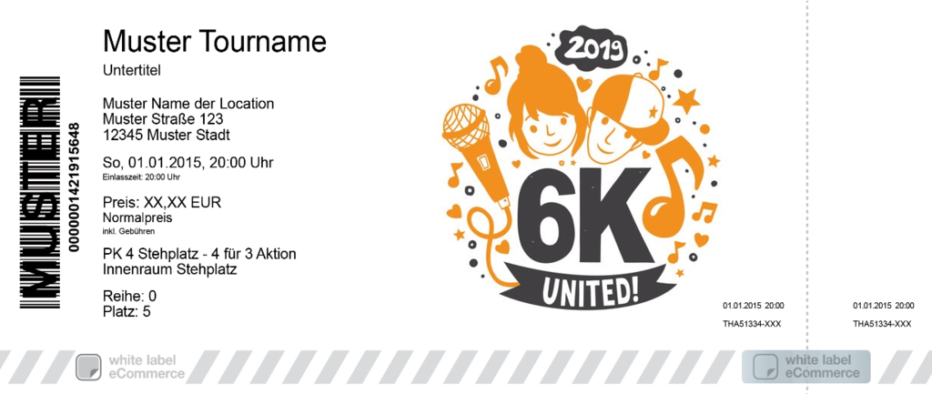6K UNITED! Colorticket