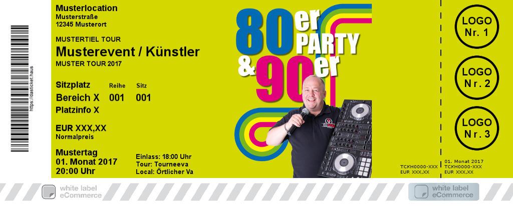80er & 90er Party Colorticket