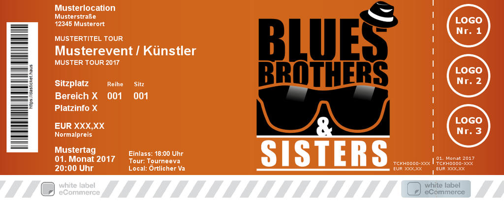 Blues Brothers & Sisters Colorticket