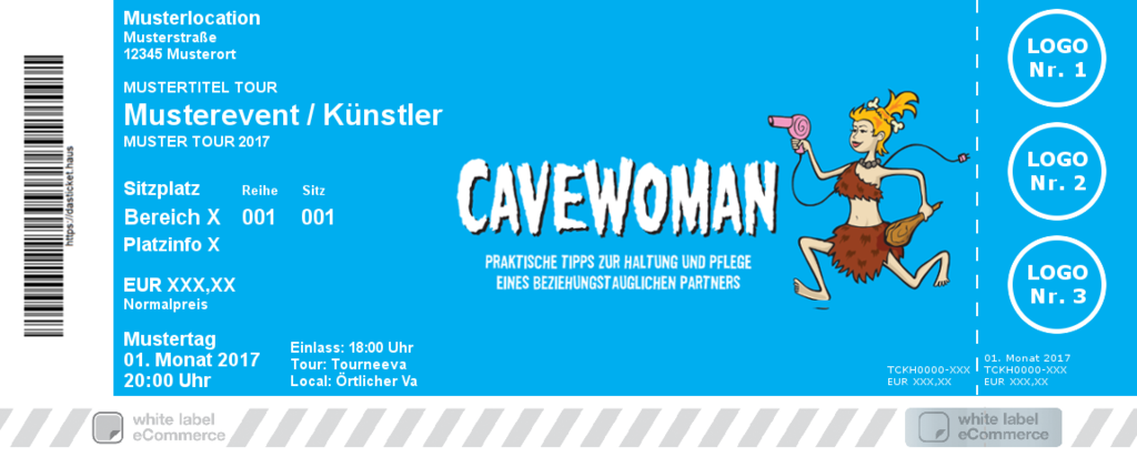CAVEWOMAN Colorticket