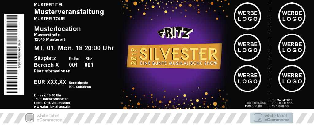Silvester Show Colorticket