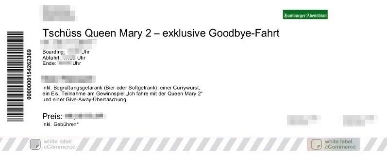 Queen Mary Begleitfahrt Colorticket