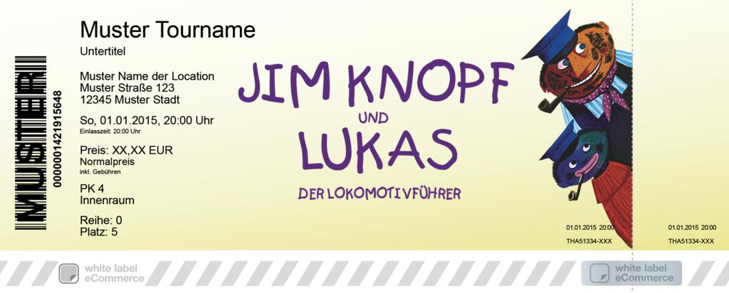 Jim Knopf und Lukas der Lokomotivführer Colorticket
