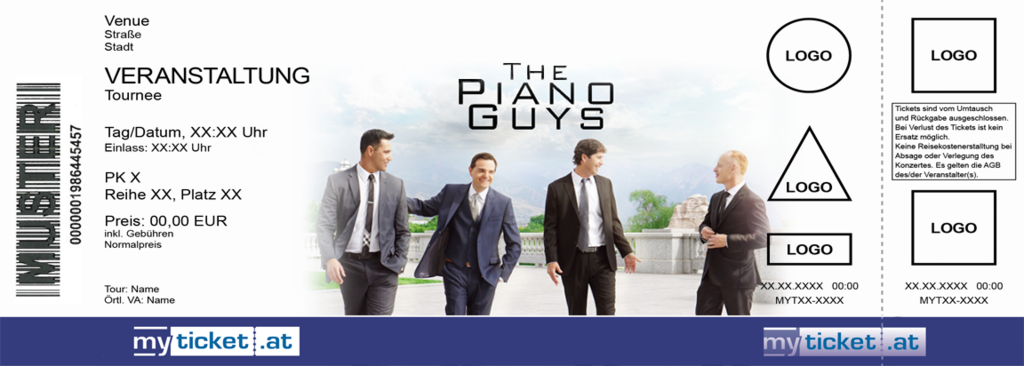 The Piano Guys Colorticket