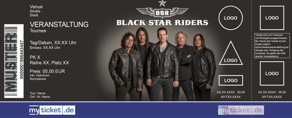 Black Star Riders Colorticket