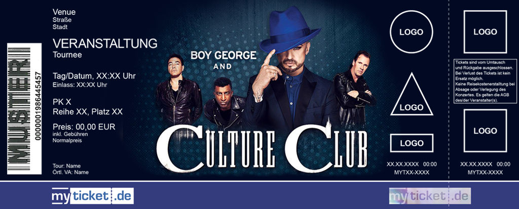 Boy George & Culture Club Colorticket