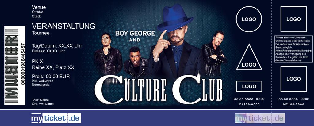 Boy George & Culture Club Colorticket