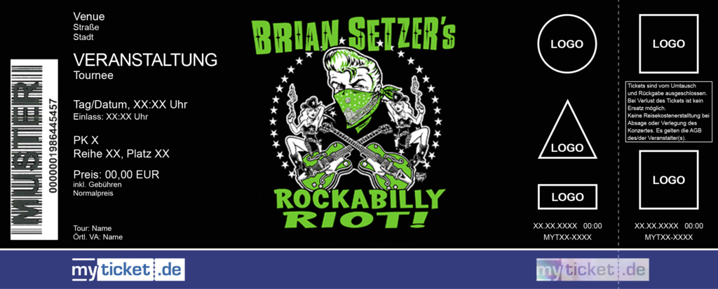 Brian Setzer´s Rockabilly Riot! Colorticket