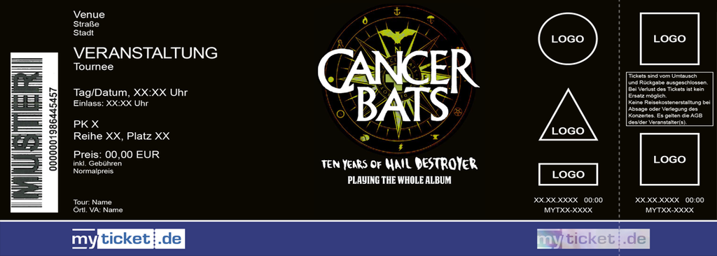 Cancer Bats Colorticket