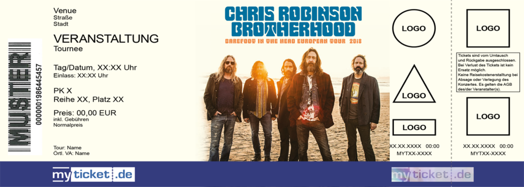 Chris Robinson Brotherhood Colorticket