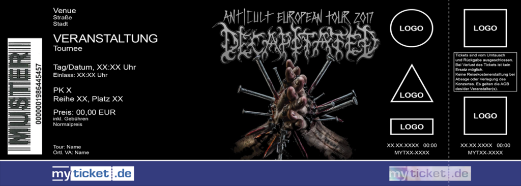 DECAPITATED Colorticket
