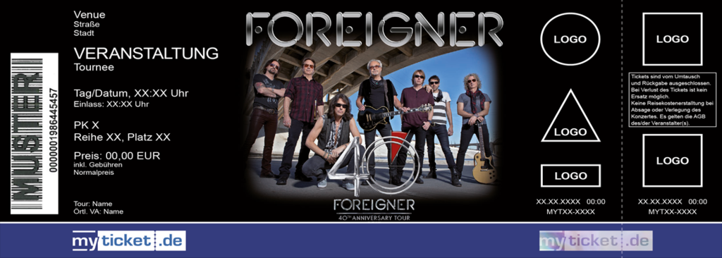 Foreigner Colorticket
