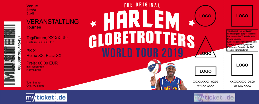 The Harlem Globetrotters Colorticket
