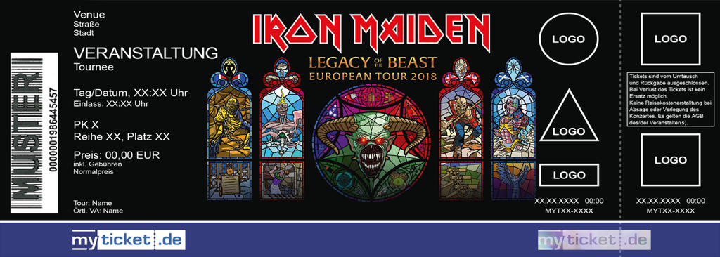IRON MAIDEN Colorticket