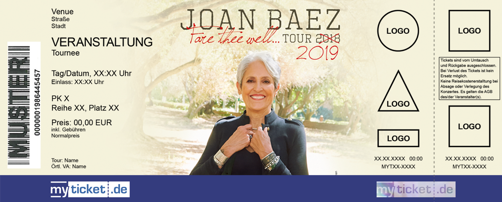 Joan Baez Colorticket