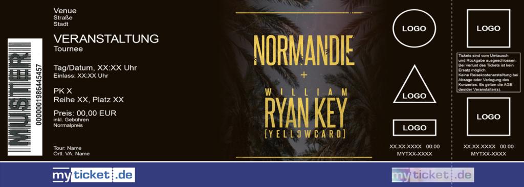 NORMANDIE + WILLIAM RYAN KEY Colorticket