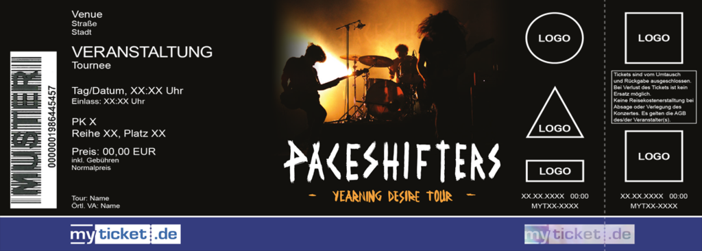 PACESHIFTERS Colorticket