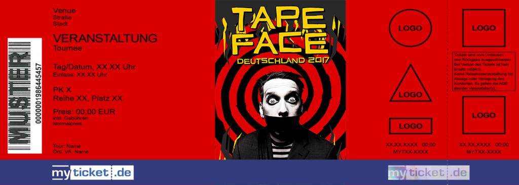 TAPE FACE Colorticket