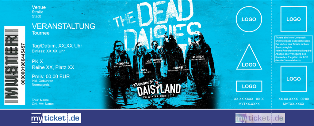 The Dead Daisies Colorticket