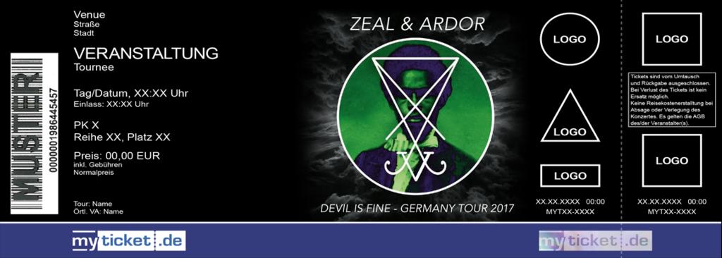 ZEAL & ARDOR Colorticket