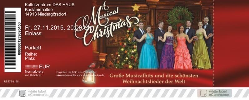 A MUSICAL CHRISTMAS Colorticket