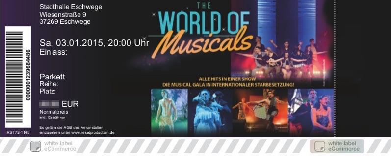THE WORLD OF MUSICALS Colorticket