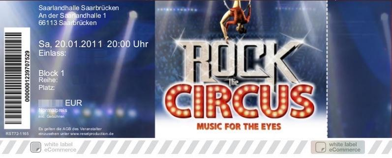 ROCK THE CIRCUS Colorticket