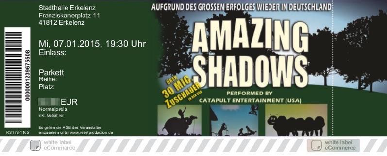AMAZING SHADOWS Colorticket