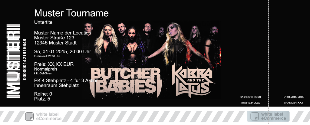 BUTCHER BABIES + KOBRA AND THE LOTUS Colorticket