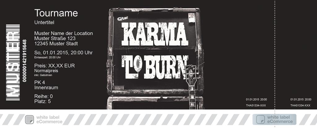 KARMA TO BURN Colorticket