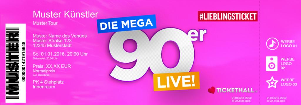 Die Mega 90er - LIVE! Colorticket