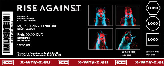 RISE AGAINST Colorticket